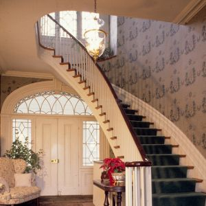 Interior with stairway, Eaton Place, Warrenton, North Carolina
