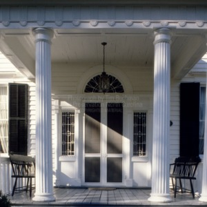 Front door and portico, Elgin, Warren County, North Carolina