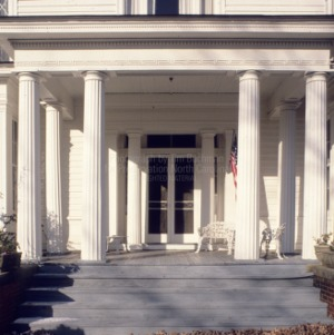 Front door and portico, Somerville-Graham House, Warrenton, North Carolina
