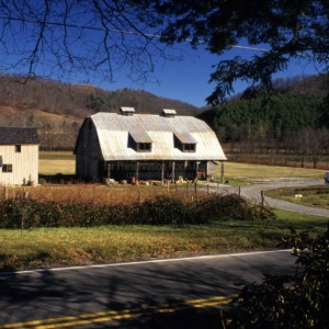View from distance, Mast Barn, Watauga County, North Carolina
