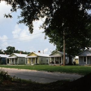 View, Vick Street houses, Wilson, North Carolina