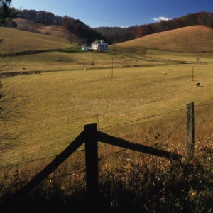 Landscape, Robert Livesay House, Ashe County, North Carolina