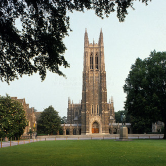 View, Duke University Chapel, Durham, North Carolina