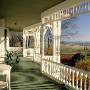 Porch, Person-McGhee House, Franklin County, North Carolina