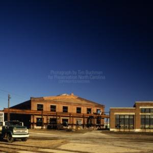 View of Back Shop and roundhouse, Spencer Shops, Spencer, North Carolina