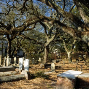 Vaults in cemetery, Old Burying Ground, Beaufort, Carteret County, North Carolina