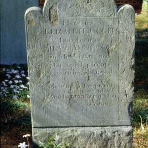 Grave of Elizabeth Cooke, Cedar Grove Cemetery, New Bern, Craven County, North Carolina