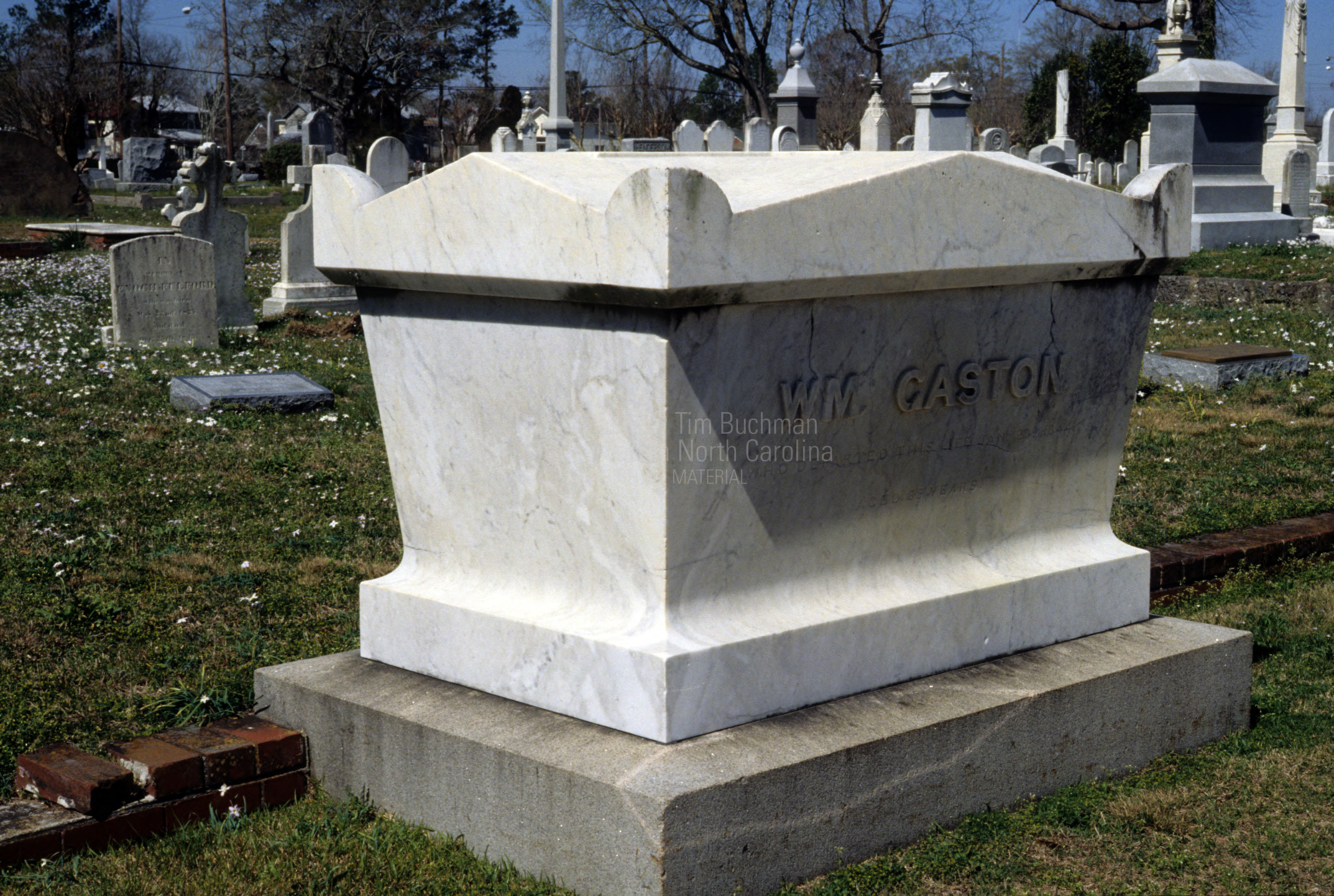 Grave of William Gaston, Cedar Grove Cemetery, New Bern, Craven County, North Carolina