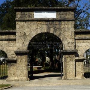 Gate, Cedar Grove Cemetery, New Bern, Craven County, North Carolina
