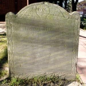 Grave of Josiah Howard, Christ Church, New Bern, Craven County, North Carolina
