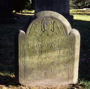 Grave of Mary Walker, St. Paul's Episcopal Church, Edenton, Chowan County, North Carolina