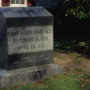 Grave of Frank Drane, St. Paul's Episcopal  Church, Edenton, Chowan County, North Carolina