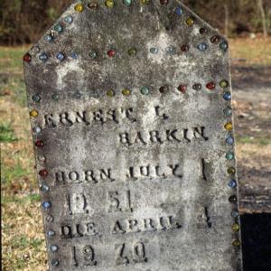 Grave of Ernest Barkin, Flea Hill Church, Cumberland County, North Carolina