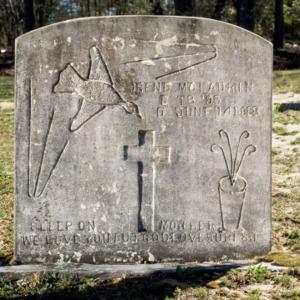 Grave of Irene McLaurin, Mount Zion Church, Cumberland County, North Carolina