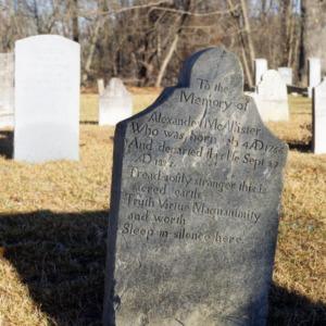 Grave of Alexander McAllister, Old Bluff Presbyterian Church, Cumberland County, North Carolina