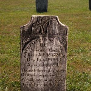Grave of Juliana Mock, Bethany Church and Cemetery, Davidson County, North Carolina