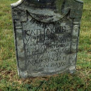 Grave of Katharine Yonts, Beulah Church, Davidson County, North Carolina