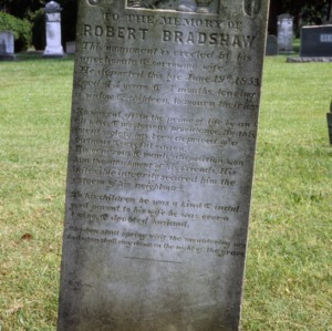 Grave of Robert Bradshaw, Jersey Baptist Church, Davidson County, North Carolina
