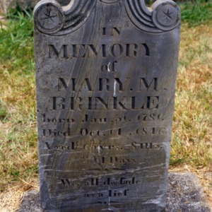 Grave of Mary Brinkle, Pilgrim Church, Davidson County, North Carolina