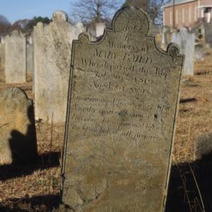 Grave of Mary Baird, Olney Church, Gastonia, Gaston County, North Carolina