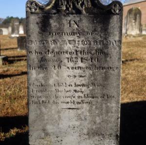 Grave of Mary A. Hollen, Olney Church, Gastonia, Gaston County, North Carolina