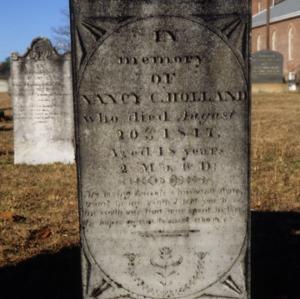 Grave of Nancy C. Holland, Olney Church, Gastonia, Gaston County, North Carolina
