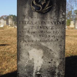 Grave of Eliza Torrence, Olney Church, Gastonia, Gaston County, North Carolina