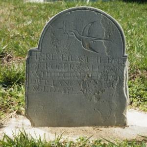 Grave of Robert Allison, Alamance Presbyterian Church, Guilford County, North Carolina
