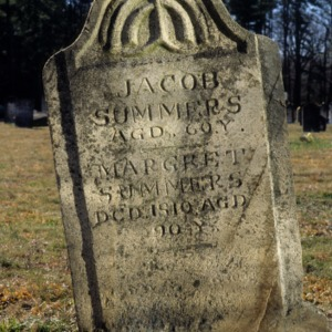 Grave of Jacob and Margret Summers, Friedens Lutheran Church, Guilford County, North Carolina