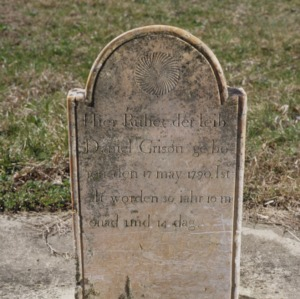 Grave of Daniel Grison, Low's Lutheran Church, Guilford County, North Carolina