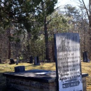 Grave of Mary McCormick, Antioch Presbyterian Church, Hoke County, North Carolina