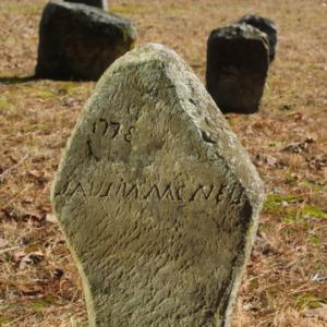 Grave of unidentified McNeil, Longstreet Presbyterian Church, Fort Bragg, North Carolina