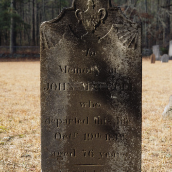 Grave of John MacColl, Longstreet Presbyterian Church, Fort Bragg, North Carolina