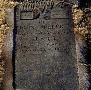 Grave of John Miller, Daniels Lutheran Church, Lincoln County, North Carolina
