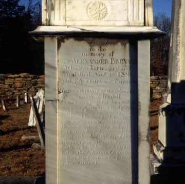 Brevard tomb, Machpelah Presbyterian Church, Lincoln County, North Carolina