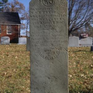 Grave of M. S. I. Pryor, Palm Tree Church, Lincoln County, North Carolina