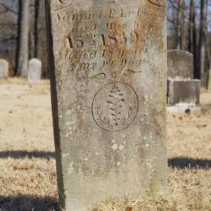 Grave of Samuel Lutz, Trinity Church, Lincoln County, North Carolina