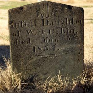 Grave of Lin infant, Trinity Church, Lincoln County, North Carolina