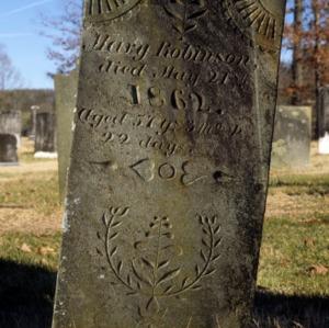 Grave of Mary Robinson, Trinity Church, Lincoln County, North Carolina