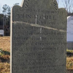 Grave of John McCaule, Unity Church, Lincoln County, North Carolina