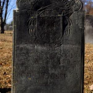 Grave of Robert Bigham, Steele Creek Presbyterian Church, Mecklenburg County, North Carolina