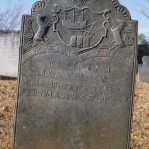 Grave of Andrew Bigham, Steele Creek Presbyterian Church, Mecklenburg County, North Carolina