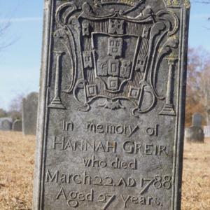 Grave of Hannah Grier, Steele Creek Presbyterian Church, Mecklenburg County, North Carolina
