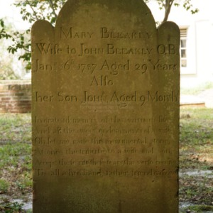 Grave of Mary and John Bleakley, St. James Episcopal Church, Wilmington, New Hanover County, North Carolina