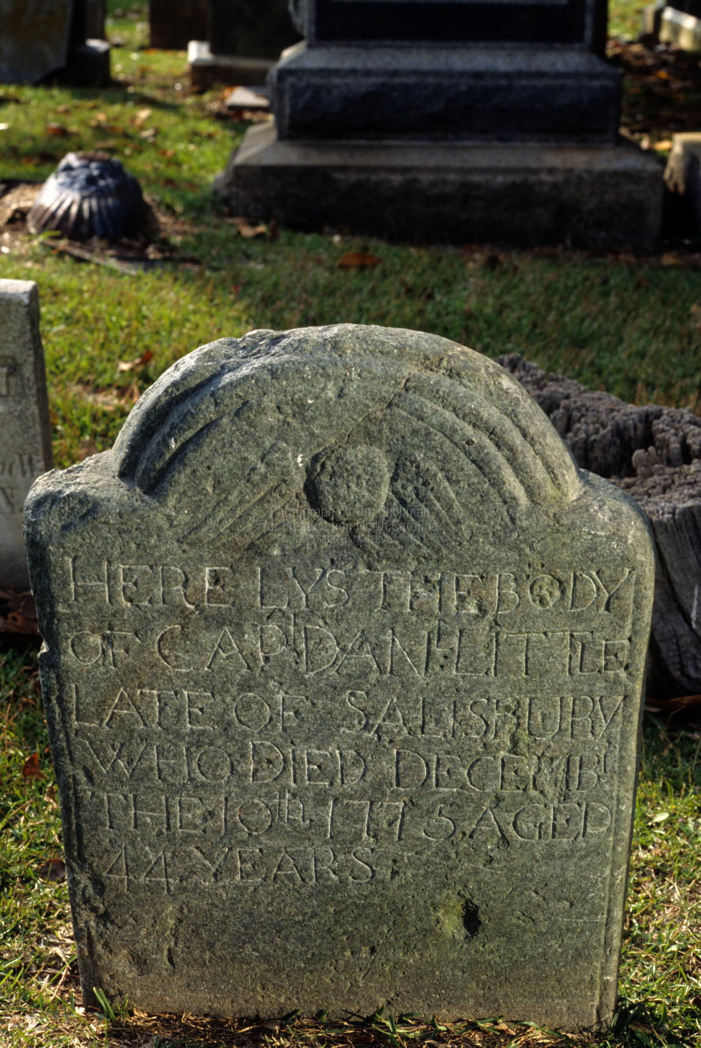 Grave of Captain Daniel Little, Old English Cemetery, Salisbury, Rowan County, North Carolina