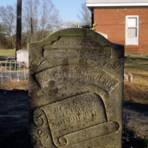 Grave of Clinnie Owens, First Baptist Church, Sampson County, North Carolina