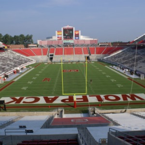Carter-Finley Stadium, view from end zone