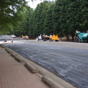 Paving on campus
