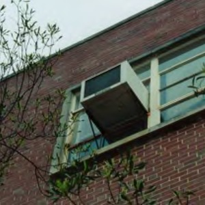 Window air conditioning units in Kilgore Hall