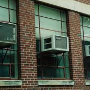 Window air conditioning units in Riddick Hall